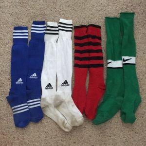 Adidas Nike striped sock bundle soccer athletic